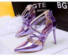 #Cross Word#Cross Word Buckle Fine With Pointed Heels Nightclub Roman Shoes Purple http://www.clothing-dropship.com/cross-word-buckle-fine-with-pointed-heels-nightclub-roman-shoes-purple-g2340720.html