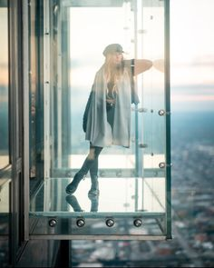 """Skydeck Chicago on Instagram: """"The Skydeck is home to the Ledge, glass boxes that extend from the western side of Willis Tower 103 floors up. This provides visitors with…"""""""
