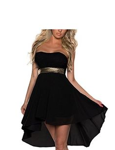 FASHION LOVER Women's Strapless High Low Cocktail Prom Dr...
