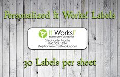 Now available in our store. Check it out here http://j-s-graphics.myshopify.com/products/personalized-it-works-independent-distributor-labels-or-address-labels?utm_campaign=social_autopilot&utm_source=pin&utm_medium=pin