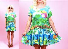 JAMS WORLD orchid island babydoll mini dress Drop by PRISMVTG, $45.00