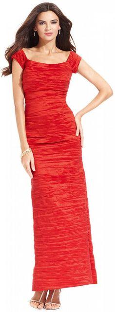 Alex Evenings Dress, Off the Shoulder Sequin Lace Evening Gown