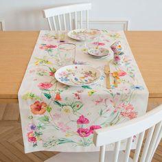 Camino de mesa flor azul mesas zara home and home - Caminos de mesa zara home ...