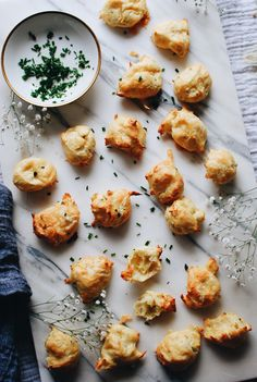 Garlic and Chive Gougères