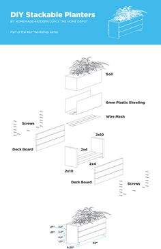 HomeMade Modern DIY Stackable Planters