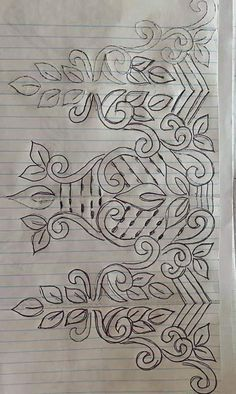 Fabric Patterns, Embroidery Patterns, Hand Embroidery Dress, Point Lace, Mehandi Designs, Fabric Painting, Blouse Designs, Applique, Paper Crafts