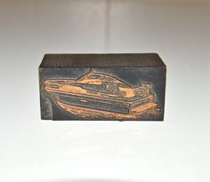 Letter Press Printers Block Ink Stamp Speed Boat Power by WVpickin
