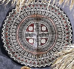 Intricate patterns on Fijian Masi