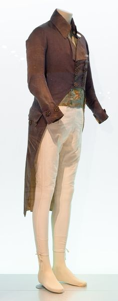 Ensemble homme, Museu Tèxtil i d'Indumentària, Barcelona. 18th Century Clothing, 18th Century Fashion, 19th Century, Antique Clothing, Historical Clothing, Victorian Fashion, Vintage Fashion, Cosplay, Jane Austen