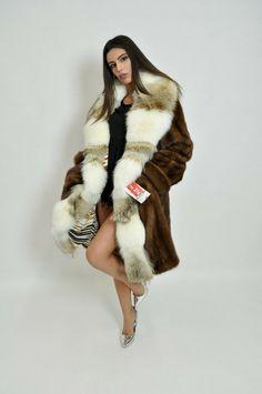Winter Fur Coats, Winter Coats Women, Coats For Women, Sable Fur Coat, Mink Fur, Wet Look, Fur Fashion, Brown Fashion, Vest For Sale