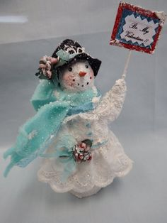 Your place to buy and sell all things handmade Christmas Nativity, Christmas Crafts, Christmas Decorations, Christmas Ornaments, Paper Magic, Cold Cream, 2016 Winter, Primitive Snowmen, Paperclay