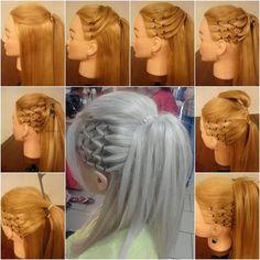 Piękna fryzura - krok po kroku