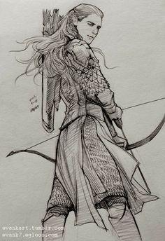 Legolas (http://evankart.tumblr.com/) ...Usually I don't pin fanart, but I can feel the overabundance of fabulous here.
