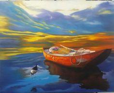 Por do sol /óleo sobre tela  Rosi Carvalho