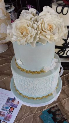 Soft and simple wedding cake