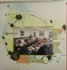 Scrapmatts words, kaisercraft stamps, kaisercraft mists , Basic Grey paper. And the circles? Probably done with a plate from my kitchen!!