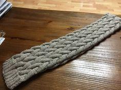 뜨개질 목도리 :: 꽈배기무늬 / 제이드목도리 뜨기 : 네이버 블로그