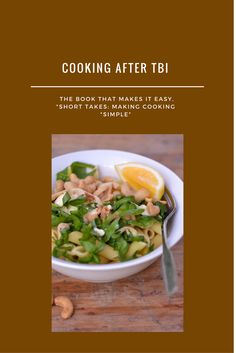 """always popular, this fast, easy pasta dish makes cooking easy. Find the recipe in """"Short takes: making cooking simple. Also avaiiable on Book Depostitory Easy Pasta Dishes, Beef, Brain Injury, Cooking, Simple, How To Make, Recipes, Popular, Food"""