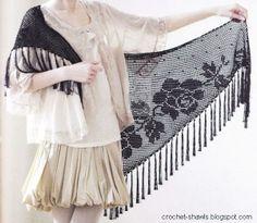 Crochet Shawls: Filet Crochet Shawl Pattern