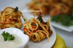 Cucur Kentang Sarang Burung / Bird Nest Potato Fritters ~ Recipes