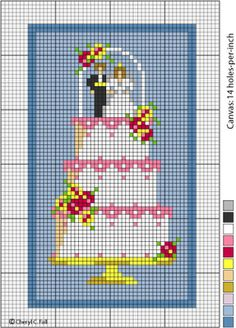 amour - love - mariés - point de croix - cross stitch - Blog : http://broderiemimie44.canalblog.com/