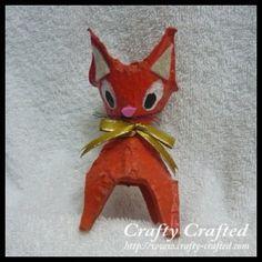Egg Carton Cat I Crafty-Crafted.com #diy #crafts #kids