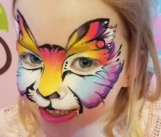 This site contains information about colorful tiger face paint. Animal Face Paintings, Animal Faces, Art Paintings, Butterfly Face Paint, Butterfly Eyes, Kitty Face Paint, Cat Face, Tiger Face Paints, Piercings