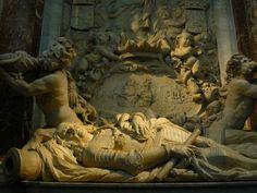 Op 18 maart 1677 werd de gesneuvelde admiraal begraven onder de plaats van het vroegere altaar in de Nederlands Hervormde Nieuwe Kerk in Amsterdam.De Staten-Generaal betaalden voor de uitvaart 14.646 gulden. Met het beloofde grafmonument. Het duurde jaren voordat dat klaarwas en de Staten-Generaal konden alleen met moeite worden overgehaald om ook hiervoor te betalen. Boven het monument zijn de woorden ''immensi tremor oceani'' geschreven. het betekend schrik des grote oceaans in het latijn