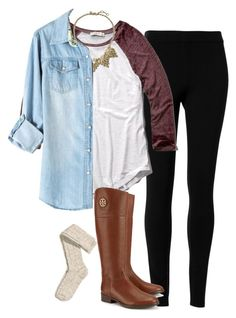 """""""Ootd"""" by preppy-hipster ❤ liked on Polyvore featuring Max Studio, Abercrombie & Fitch, Banana Republic, Tory Burch and H&M"""
