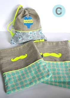 Petits sacs Diy Sac, Diy Couture, Fabric Toys, Creation Couture, Diy Purse, String Bag, Sewing Projects For Kids, Student Gifts, Sewing Accessories