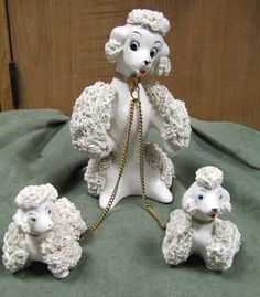 Spaghetti Poodle figurines - popular in the 50s