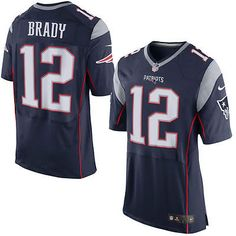 Tom Brady New England Patriots Mens Navy Alternate Home Game Jersey