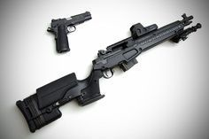 Springfield M1A SOCOM 16 and 1911 by LBC StudiosLoading that magazine is a pain! Excellent loader available for your handgun Get your Magazine speedloader today! http://www.amazon.com/shops/raeind