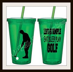Golf Tumbler - Personalized Acrylic Tumbler 16oz-Stay Cool and Go Green-Makes a Great Gift