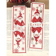 Christmas Gnomes Bookmarks - Cross Stitch, Needlepoint, Stitchery, and Embroidery Kits, Projects, and Needlecraft Tools | Stitchery