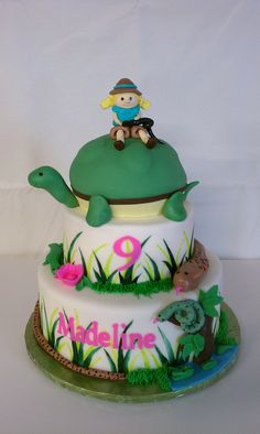 Reptile Themed Birthday Cake by Little Sugar Bake Shop, via Flickr