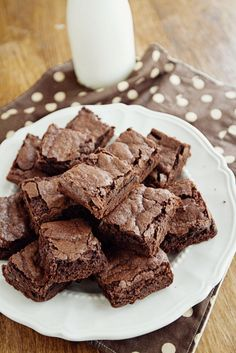 Classic Brownies. A homemade recipe that every girl needs to have. None of that box stuff. Delicious, dense, & fudgey :)