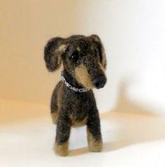 OMG I want this! Needle Felt Dog Pet Dachshund by FibreHeart for $130.00