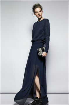 Love this look from Mango September 2012 Latest Fashion Trends, Fashion News, Style Fashion, Long Chiffon Skirt, Vogue, Mode Editorials, Lookbook, Mode Inspiration, Fashion Inspiration