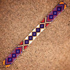 Friendship Bead Loom Bracelet Bohemian Boho Artisanal Jewelry Indian Western Beaded Turquoise Red Yellow Orange Bright Colorful Tribal on Etsy