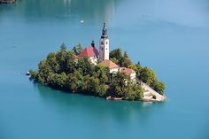 12 Insanely Gorgeous Places To Elope #refinery29  http://www.refinery29.com/where-to-elope#slide-2  Bled, Slovenia (Continued)In the middle of the town is a lake; in the middle of the lake is a small island; and on the middle of the island is a tiny church, perched high above the water. ...