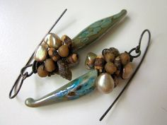 RESERVED  This Pagan Earth  primitive cluster teal by LoveRoot