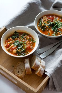 Autumn Minestrone (for veggie version leave the bacon off)