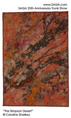 Art quilt by Caroline Sharkey #artquilts #SAQA