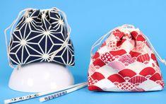 Japanische Kinchaku Beutel nähen - DIY Eule Crochet Stitches Free, Crochet Blanket Patterns, Sewing Projects For Beginners, Sewing Tutorials, Drawstring Bag Tutorials, Fabric Bags, Half Double Crochet, Beautiful Crochet, Purses And Bags