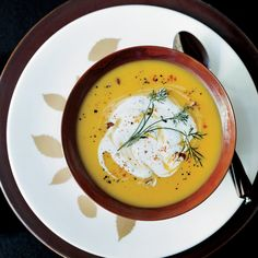 Dean Fearing loves the holiday feel of butternut squash, especially when it's combined with ginger, as it is for his smooth, gently sweet soup. He top...