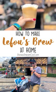 Check out this easy to make Disney World Recipe! A Magic Kingdom favorite! LeFou's Brew is a great WDW snack drink that you can get at the parks. Now you can make this easy recipe at home! Disney Dinner, Disney Home, Disney Dream, Disney Fun, Disney Tips, Disney Magic, Disney Drinks, Disney Snacks, Disney Recipes