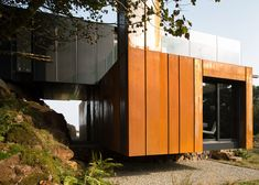 Grillagh Water House built from stacked shipping containers | by architect and farmer Patrick Bradley