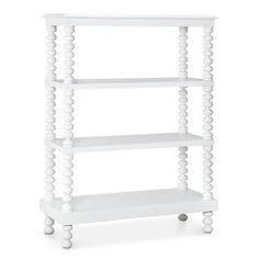 Jenny Lind 3 Shelf Bookcase - White