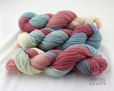 Gender Reveal hand dyed sock yarn superwash nylon by Arctickrafts